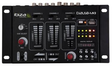 Mixer 4 Canali 7 Input USB  DJ21USB-MKII - Distributore di Segnale & Amplificatore - Audio Video