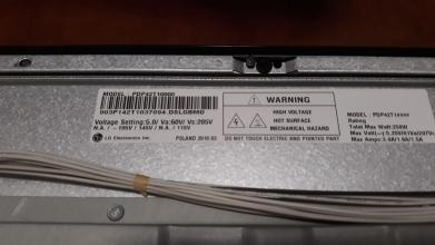 DISPLAY PLASMA LG 42PJ350 PDP42T1000 USATO