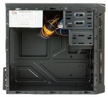 Case RIVER - Mini Tower mATX 500W 2xUSB3 Full Black