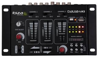 MIXER 4 CANALI 7 INPUT + USB 15-2046b - (DJ21USB-MKII) IBIZA