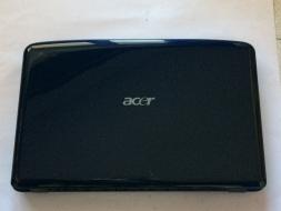 SCOCCA COMPLETA ACER ASPIRE 5535 5235 COVER LCD ANTERIORE E POSTERIORE BLU USATO